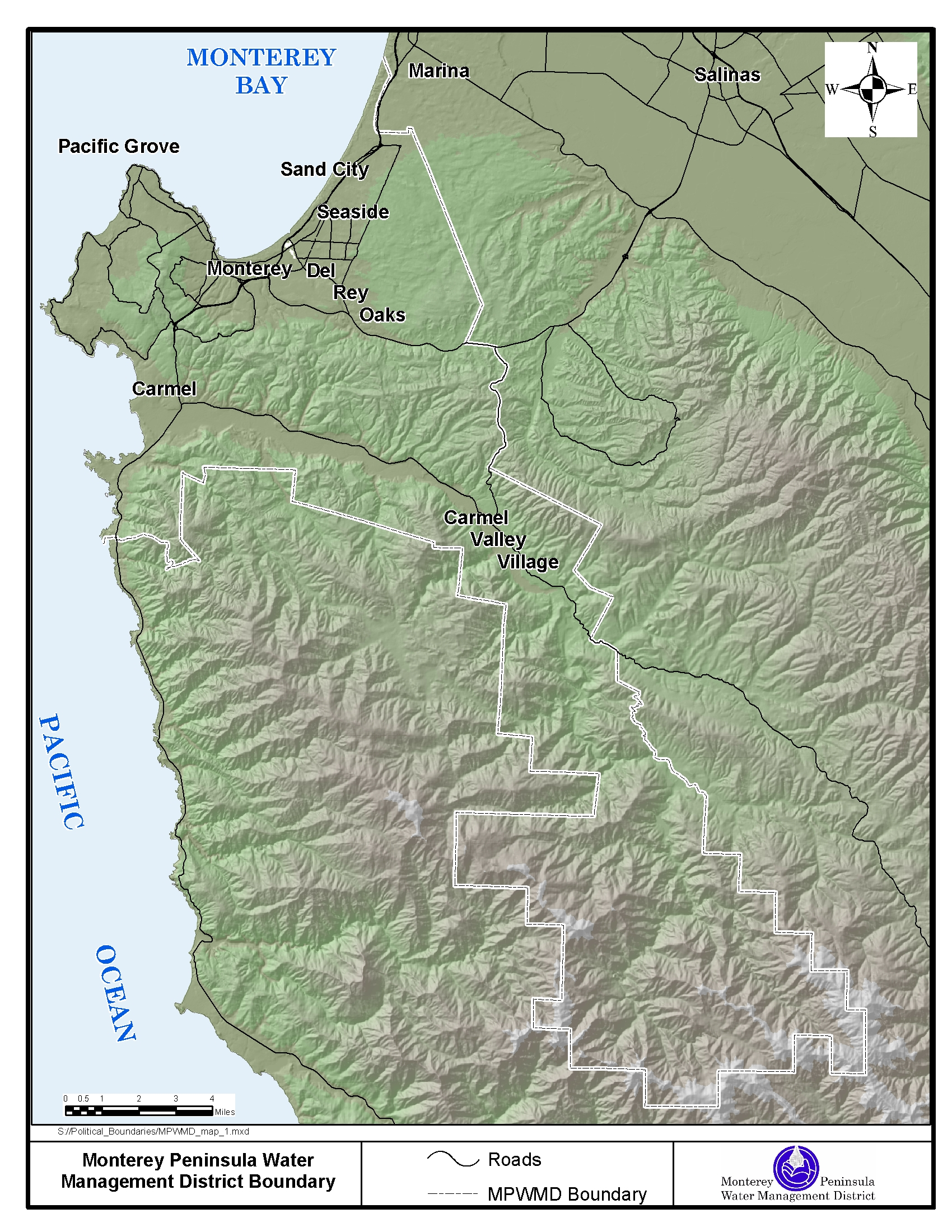 Monterey County California Map.Mpwmd Gis Map Gallery Descriptions