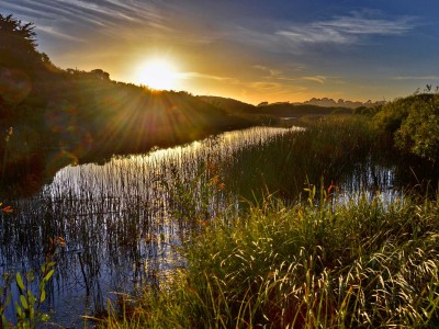 Carmel River at Sunset