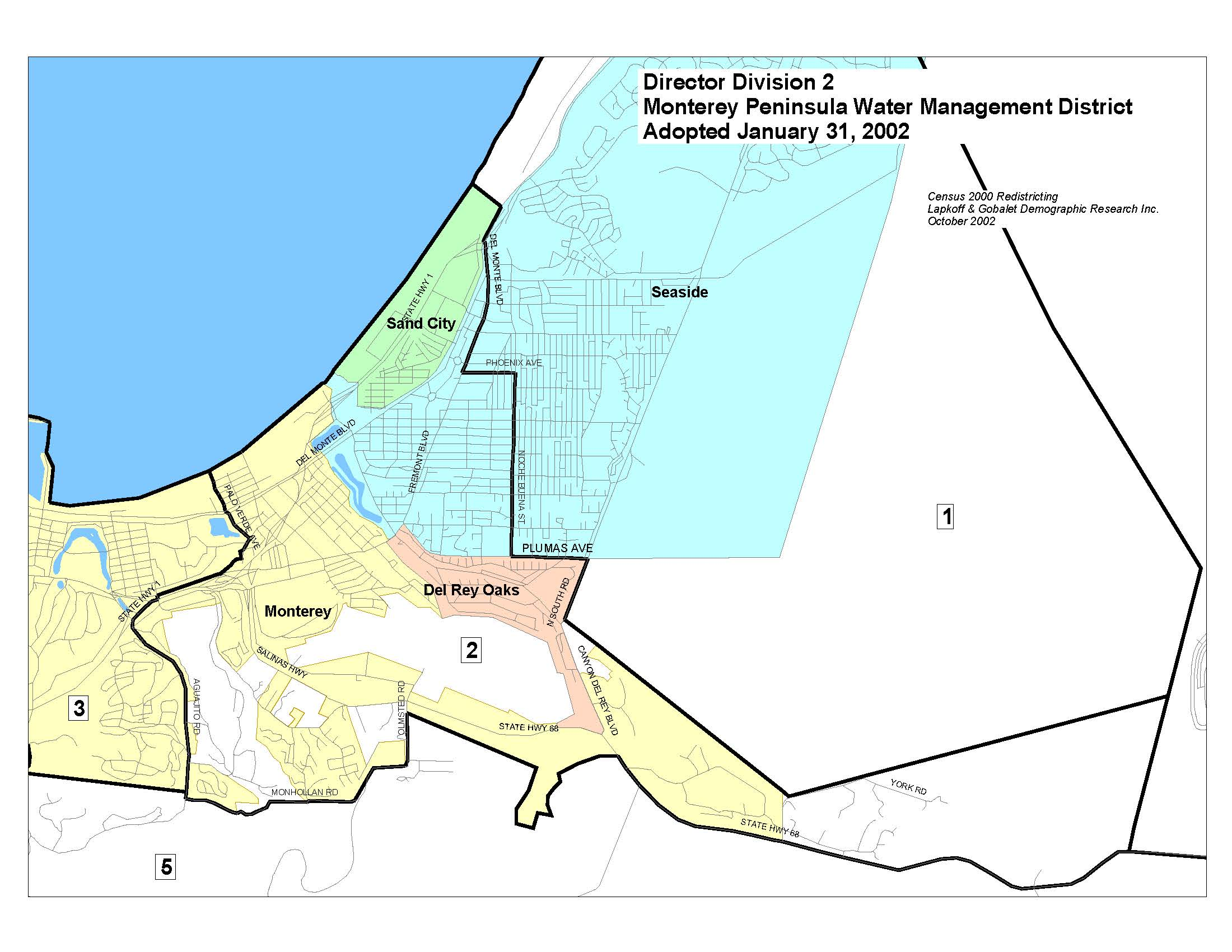 Voter Division Maps Monterey Peninsula Water Management District