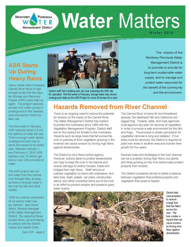 MPWMD - Water Matters Newsletter - Winter 2016_Page_1