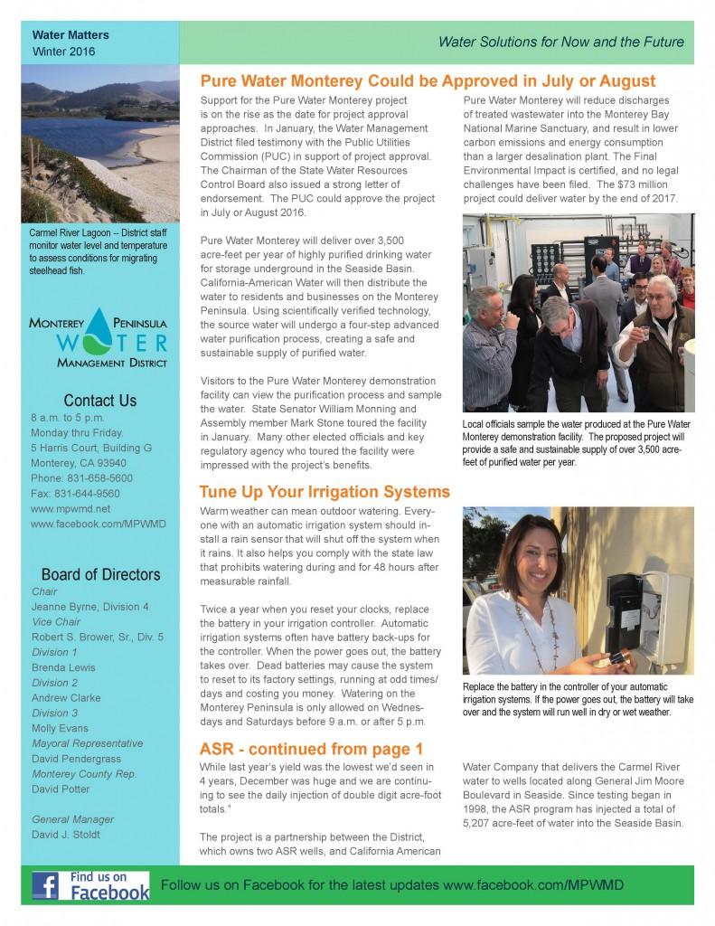 MPWMD - Water Matters Newsletter - Winter 2016_Page_2