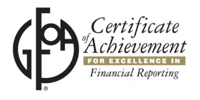 District Receives Certificate of Achievement